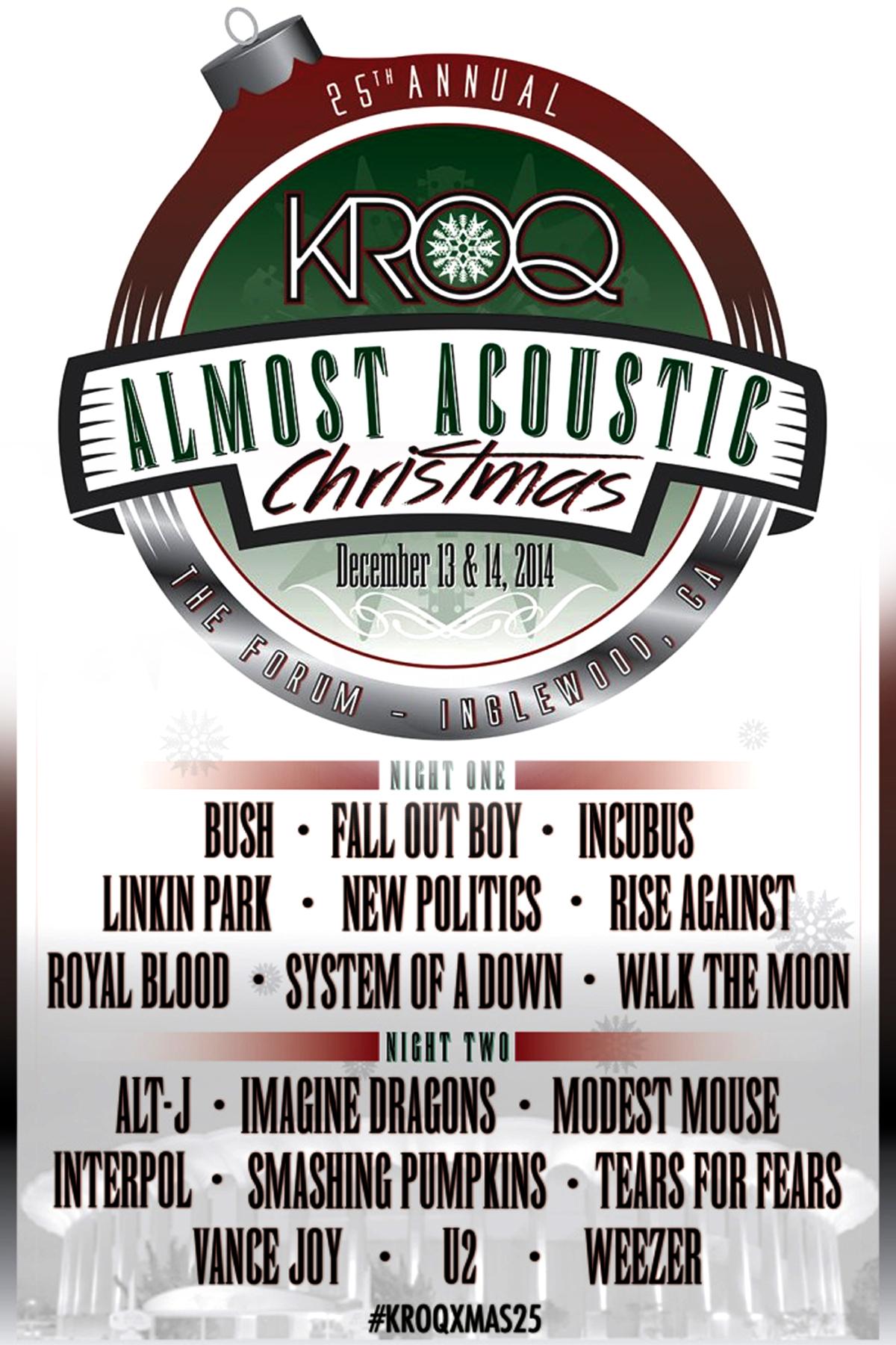 kroq almost acoustic christmas 2014 - Kroq Christmas